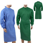 US Unisex Reusable Protective Coats Surgeon Workwear Medical Isolation Lab Gowns