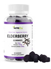 Black Elderberry Gummies Vitamin C Zinc 260mg Natural Berry Flavor Immune Boost $13.9 USD on eBay