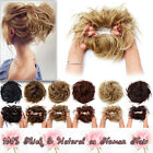 100% Large Messy Bun Hairpieces Scrunchie as Real Human Ponytail Hair Extension