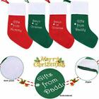 Embroidered Christmas Stockings Santa Letter Xmas Stocking & Gift Card Set