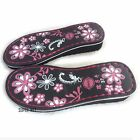 Women Flower Slipper Wedge Soles Shoe Making Sew On Replacement Floral DIY 35-40