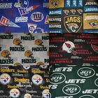 NFL COTTON Fabric (1/4 yard) PERFECT FOR DIY MASK - Choose a team, SHIPS TODAY! $15.0 USD on eBay