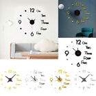 S/L 3D Acrylic Large Number Mirror Sticker DIY Wall Clock Office Modern Decor US