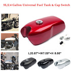 Universal 9L/2.4 Gal Vintage Motorcycle Cafe Racer Seat Fuel Gas Tank Cap Switch $234.22 USD on eBay