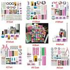 Nail Art Set Kit Acrylic Powder Glitter Nail Art Manicure Tool Tips Brush Set Us