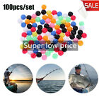 Plastic Round Mixed Color Fishing Cross Beads Drill  Floats Balls Double Pearl