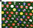 Pool Billiards Balls Game Sports Fabric Printed by Spoonflower BTY $38.0 USD on eBay