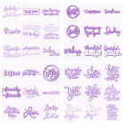 Sentiment Words Letter Cutting Dies Metal Stencil for DIY Scrapbooking Cards