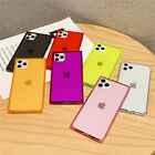 For Iphone 11 Pro Max Xr 8 7 6+ Square Clear Soft Tpu Slim Shockproof Case Cover