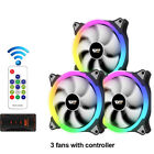 RGB Case Fan 140mm AURA SYNC PC Cooling RGB Fan 5V/3pin Speed Adjust Quiet wt RC