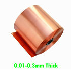 99.9 Pure Copper Sheet Plate Handcraft Aerospace Material 0.01-0.3mm Thick DIY
