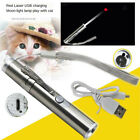 LASER POINTER USB CHARGING 3-in-1 Cat Pet Toy Rechargeable Red UV Flashlight