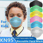 Kids Reusable Mask Washable Separate Nose Mouth&10x Carbon Filter Protect Purify