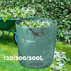 32~132gal Reusable Garden Waste Bag Leaf Refuse Sack Grass Handle Bag Heavy Duty