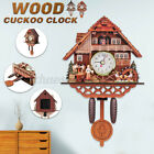 Antique Vintage Cuckoo Wood Clock Forest Wall Clock Room Decor Home Office Retro
