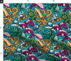 Colorful Sea Monster Nautical Home Decor Squid Fabric Printed By Spoonflower Bty