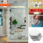 36 X 3d Mirror Tiles Mosaic Wall Stickers Self Adhesive Bedroom Art Decal Home