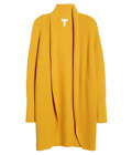 Leith Women Dolman Long Sleeve Open Cardigan Soft Mineral Yellow XS S M  NWT