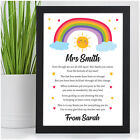 Lockdown Rainbow Teacher Gifts PERSONALISED Teacher Thank You Appreciation Gifts