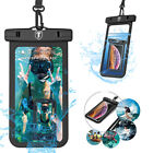 2 Pack Universal Waterproof Phone Pouch Underwater Swimming Dry Bag Case Cover