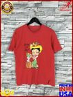Betty Boop Sexy Red T Shirt Women Medium Betty Boop Cartoon Aloha Hula Girl Flei $13.25 USD on eBay
