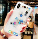 NEW For Iphone X XS XS Max XR Social Media Icon Liquid Case Cover