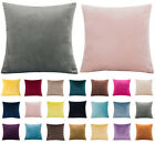 "16"" 18"" 20"" 22"" 24"" Velvet Plain Cushion Cover Pillow Case Home Sofa Decor Uk"