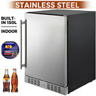 Built-in Beverage Cooler Refrigerator 5.3 Cu. Ft Freezer Stainless Steel
