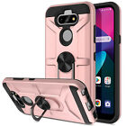 For LG Phoenix 5(AT&T)Phone Case Shockproof Ring Holder Stand Hybrid Armor Cover