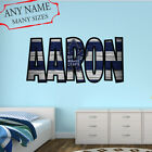 Toronto Maple Leafs Wall Decal Art Custom Name Sticker Hockey Kids Mural NL06 $24.95 USD on eBay