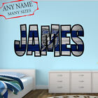 Tampa Bay Lightning Wall Decal Art Custom Name Sticker Hockey Kids Mural NL08 $24.95 USD on eBay