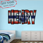 Edmonton Oilers Wall Decal Art Custom Name Sticker Hockey Kids Mural NL28 $24.95 USD on eBay