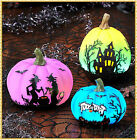 Lighted Halloween Pumpkin Color Changing Haunted House Display Decor~ 3 Choices