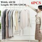 6 X Wardrobe Hanging Clothing Cover Suit Garment Bag Clothes Dust Cover Quality