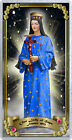 Our Lady of Hope of Pontmain France laminated Holy Prayer card. Statue of Mary