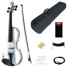 Kinglos Full Size 4/4 Colored Solid Wood Advanced Electric / Silent Violin Kit