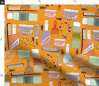 Hair Products Retro Beauty Supply Dresser Fabric Printed by Spoonflower BTY