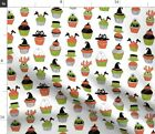 Halloween Cupcakes Spooky Scary Food Cupcake Fabric Printed by Spoonflower BTY