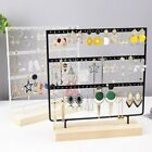 2/3 Layer Wooden Earring Display Stand Holder Jewelry Necklace Rack Organizer