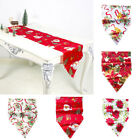 Vintage Printed Anti Fade Table Runner Flag Casual Christmas Home Party Decor