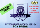 *PICK YOUR TEAM *AUTOGRAPHED HOCKEY JERSEY* 2019/20 HIT PARADE *BOX BREAK #20 $6.99 USD on eBay