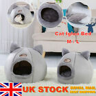 Washable Cushion Cat Bed Igloo Sleep Pet Dog Kitten Cave House Bed Nest Kennel