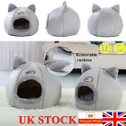 M/L Removable Cushion Cat Bed Igloo Pet Dog Kitten Cave House Bed Nest Kennel UK