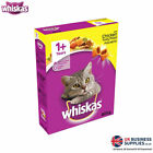 Whiskas 1+ Cat Complete Dry Cat Food with Chicken Tasty Filled Pockets 825g