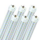 CNSUNWAY 8FT LED Tube Light Bulbs Single Pin FA8 5000K 6500K 45W 72W Shop Bulb