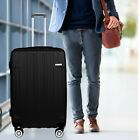 30 Luggage Cabin Suitcase Carry On BLACK ABS Spinner  Hard Shell Lightwheight