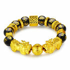 Feng Shui Black Obsidian Beads Bracelet Attract Wealth & Good Luck Bangle pixiu