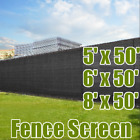 5' / 6' / 8' X 50FT Fence Windscreen Privacy Screen Shade Cover Fabric Mesh Tarp