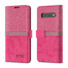 For Samsung A21s A51 S20 S8 Glitter Leather Diamond Flip Case Card Wallet Cover