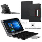 """US For 7"""" 8"""" 10"""" 10.1"""" Tablets Universal Folio Leather Case Keyboard Stand Cover"""